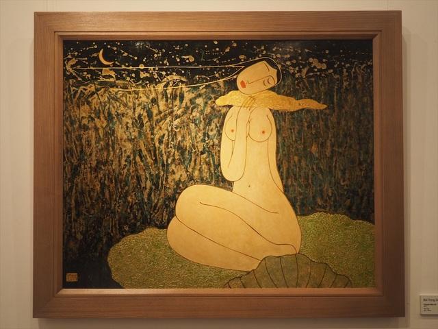 Tác phẩm Đêm hè (sơn mài) của họa sĩ Bùi Trọng Dư.
