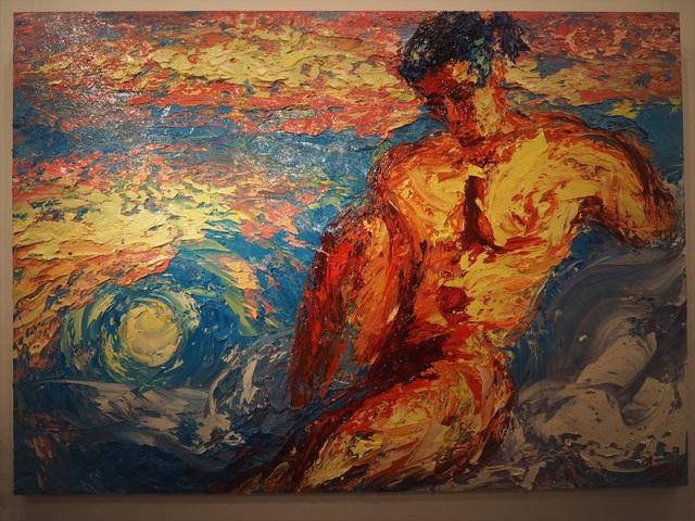 Tác phẩm Aurora của họa sĩ Trần Tuấn.