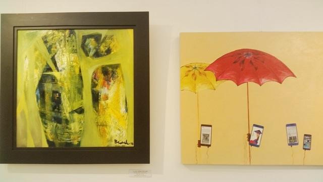 Nhiều tác phẩm tranh mềm mại, đẹp có hồn ở triển lãm mừng 60 năm thành lập trường