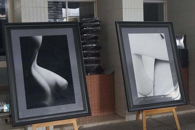 Một góc không gian cuộc triển lãm ảnh khỏa thân của họa sĩ Hạo Nhiên sẽ diễn ra vào ngày 15/9