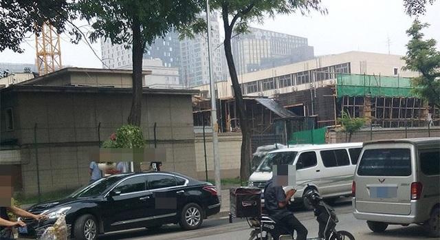 Công trình đang được xây dựng trong khuôn viên đại sứ quán Triều Tiên tại Trung Quốc (Ảnh: NK News)