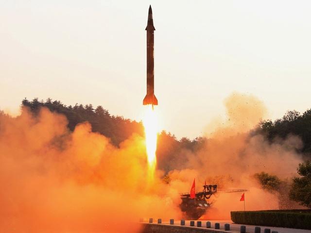 Hình ảnh được cho là vụ phóng thử tên lửa của Triều Tiên hôm 29/5 (Ảnh: KCNA)