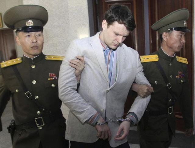 Otto Warmbier khi bị Triều Tiên bắt giữ (Ảnh: Getty)