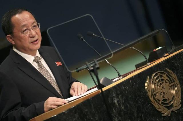 Ngoại trưởng Triều Tiên Ri Yong-ho. (Ảnh: Reuters)