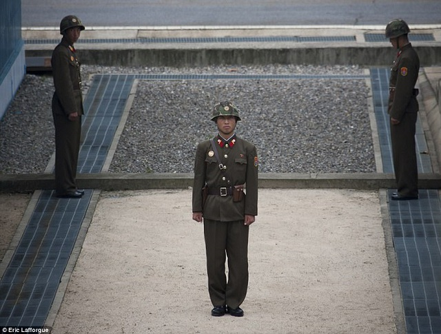 Khu phi quân sự (DMZ) ở biên giới liên Triều được mô tả là nơi nguy hiểm bậc nhất thế giới. (Ảnh minh họa: Dailymail)