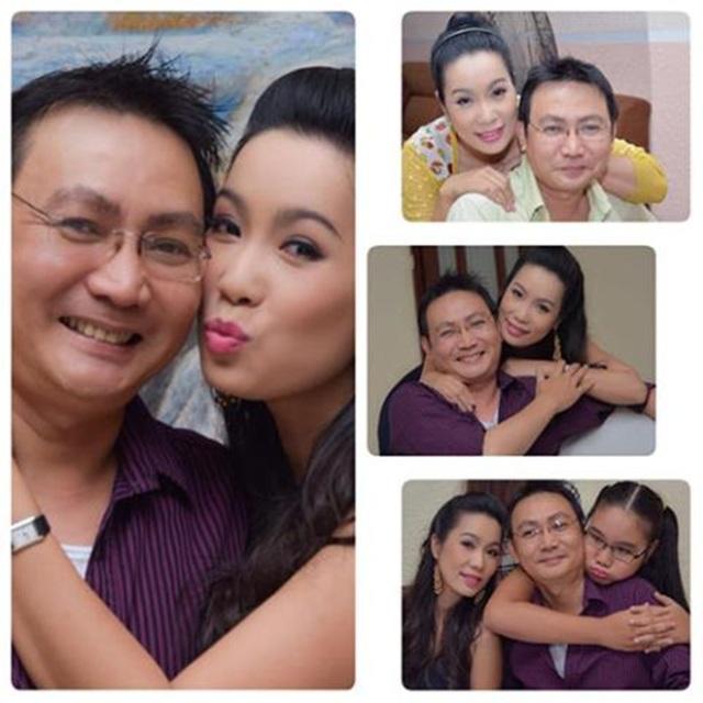 Á hậu Trịnh Kim Chi bên chồng con.