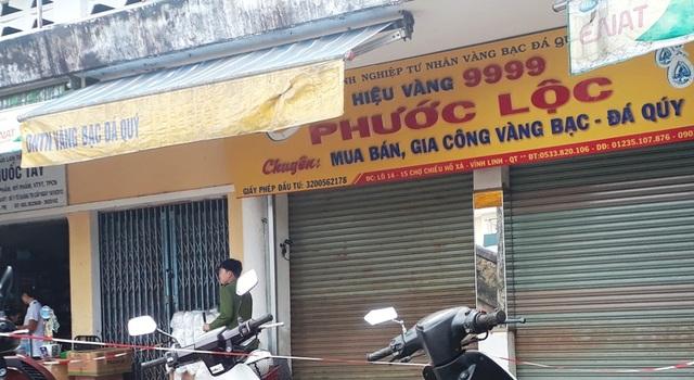 Tiệm vàng Phước Lộc, nơi được chủ hiệu trình báo bị mất trộm