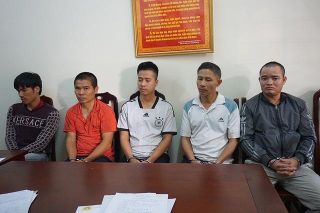 5 đối tượng trốn truy nã vừa bị lực lượng cảnh sát truy nã tội phạm Công an tỉnh Nghệ An.