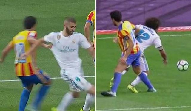 Real Madrid bị từ chối 2 quả phạt đền trong trận gặp Valencia