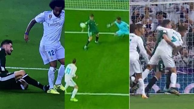 Ba lần Real Madrid bị từ chối phạt đền ở trận gặp Real Betis