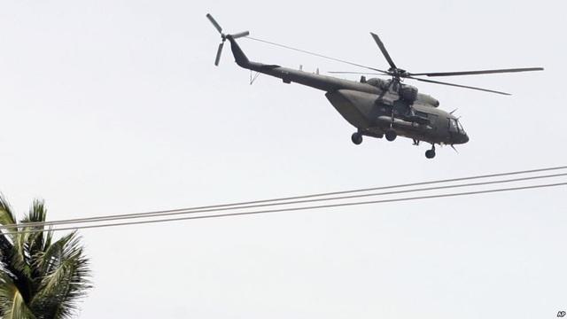 Một trực thăng quân sự của Venezuela (Ảnh: VOA)
