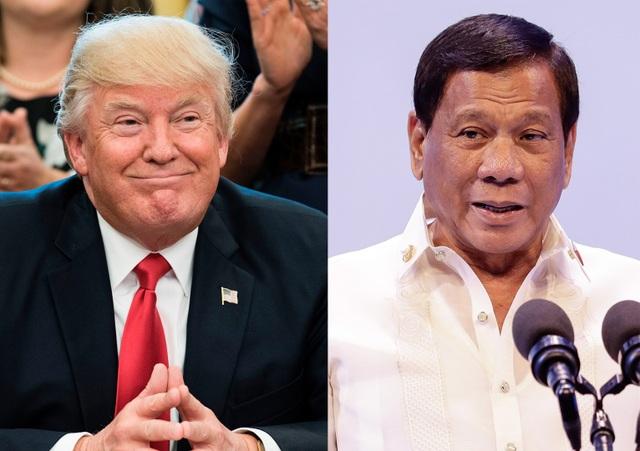 Tổng thống Donald Trump (trái) và Tổng thống Rodrigo Duterte (Ảnh: AFP)