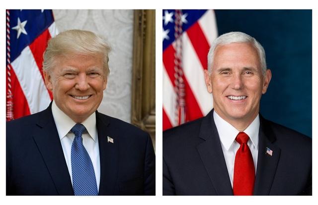 Ảnh chân dung chính thức của Tổng thống Trump và Phó Tổng thống Pence (Ảnh: Nhà Trắng)