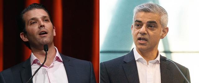 Ông Donald Trump Jr. (trái) và Thị trưởng London Sadiq Khan (Ảnh: ABC)