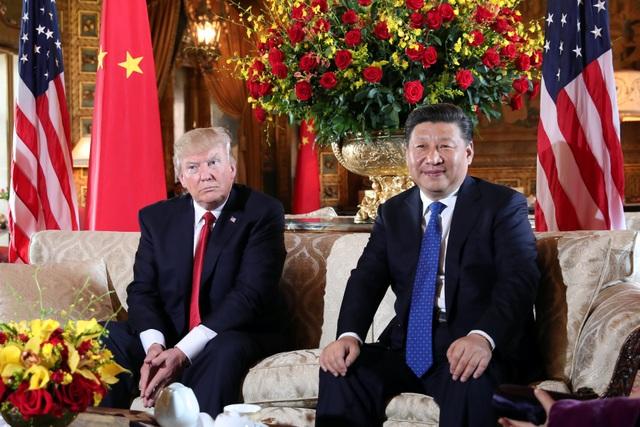 Tổng thống Donald Trump tiếp Chủ tịch Trung Quốc Tập Cận Bình tại khu nghỉ dưỡng Mar-a-Lago ở Florida, Mỹ ngày 6/4 (Ảnh: Reuters)