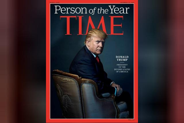 Tổng thống Trump xuất hiện trên bìa tạp chí Time sau khi nhận danh hiệu Nhân vật của năm 2016 (Ảnh: Reuters)