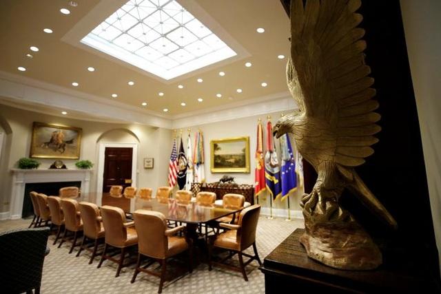 Bên trong Phòng Roosevelt tại Nhà Trắng ngày 22/8.
