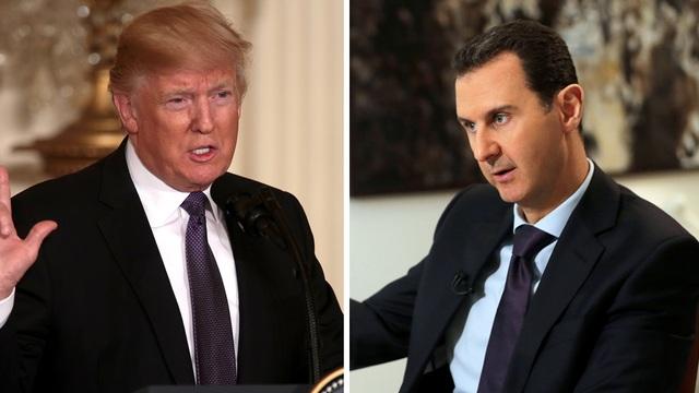 Tổng thống Donald Trump và Tổng thống Bashar al- Assad (phải) (Ảnh: Hill)