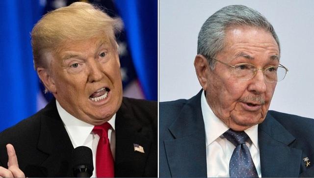 Tổng thống Mỹ Donald Trump (trái) và Chủ tịch Cuba Raul Castro (Ảnh: Getty)