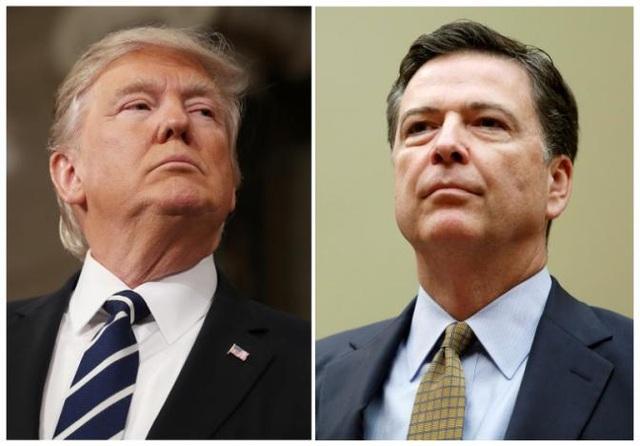 Tổng thống Donald Trump (trái) và Giám đốc FBI vừa bị sa thải James Comey. (Ảnh: Reuters)