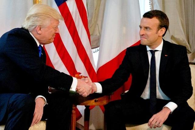 Tổng thống Mỹ Donald Trump và Tổng thống Pháp Emmanuel Macron. (Ảnh: Reuters)