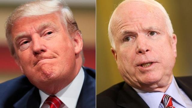 Tổng thống Mỹ Donald Trump và Thượng nghị sĩ John McCain (Ảnh: ABC News)