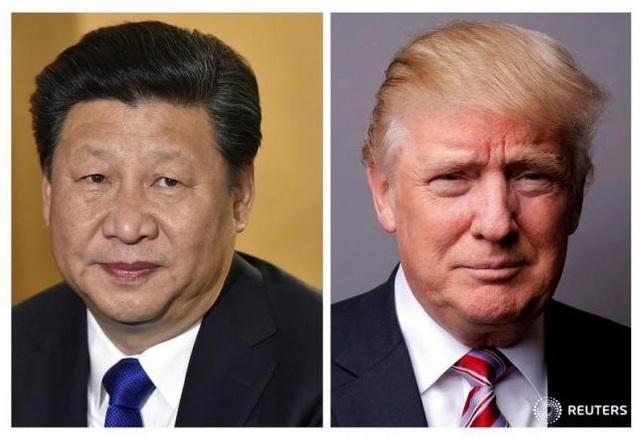 Chủ tịch Trung Quốc Tập Cận Bình (trái) và Tổng thống Mỹ Donald Trump. (Ảnh: Reuters)