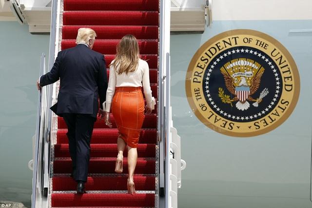 Tổng hành trình bay của Tổng thống Trump dài gần 27.000km, kéo dài 9 ngày. (Ảnh: AP)
