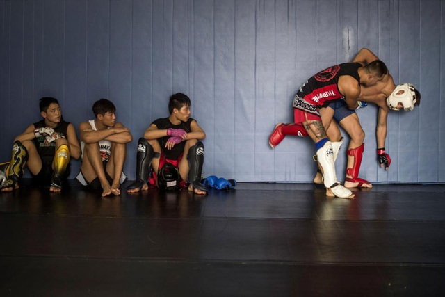 Đây là các đấu sĩ nhí thuộc cơ sở võ thuật Enbo MMA - nơi nhận nuôi và đào tạo hơn 400 trẻ em nghèo cơ nhỡ từ khắp nơi trên đất nước Trung Quốc để trở thành những đấu sĩ chuyên nghiệp. Người sáng lập ra Enbo MMA là cựu sĩ quan cảnh sát có tên Enbo và cơ sở này đã hoạt động từ năm 2001.