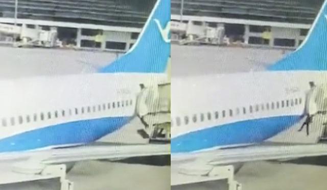 Một sự cố xảy ra ở sân bay Trịnh Châu, Hà Nam vào tháng 11 khi một nữ tiếp viên hàng không bị trượt chân ngã xuống đường băng do cửa cabin chưa đóng kín. Khi đó, cô đang chuẩn bị đồ ăn cho hành khách trước giờ máy bay cất cánh. Sau đó cô đã phải nhập viện để phẫu thuật do xương ngực bị gãy. Đây là vụ tiếp viên ngã khỏi máy bay thứ 2 xảy ra trong chưa đầy 1 tháng. Hồi cuối tháng 10, một nữ tiếp viên cũng bị ngã xuống đường băng một sân bay ở Thâm Quyến khi cô đang cố đóng cửa máy bay. (Ảnh: QQ)