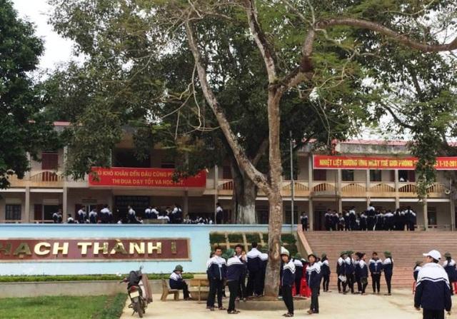 Trường THPT Thạch Thành 1, huyện Thạch Thành được đầu tư trong đợt này