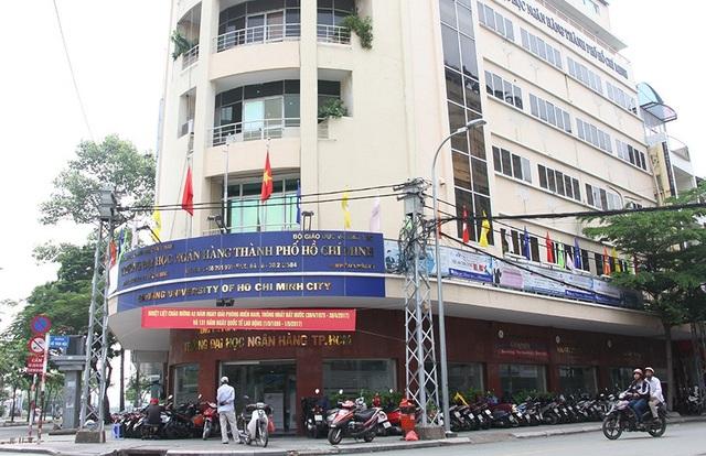 Cơ sở chính của trường ĐH Ngân hàng TPHCM ở quận 1