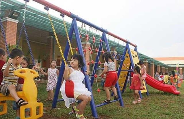 Trường mẫu giáo Dona Standard dành cho con công nhân tại khu công nghiệp Xuân Lộc (huyện Xuân Lộc, tỉnh Đồng Nai) khánh thành ngày 19/8/2016. (Ảnh: Báo Pháp luật TPHCM)