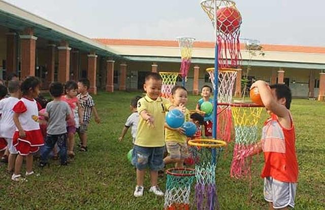 Trường mẫu giáo Dona Standard dành cho con công nhân tại khu công nghiệp Xuân Lộc (huyện Xuân Lộc, tỉnh Đồng Nai). (Ảnh: Báo Pháp luật TPHCM)