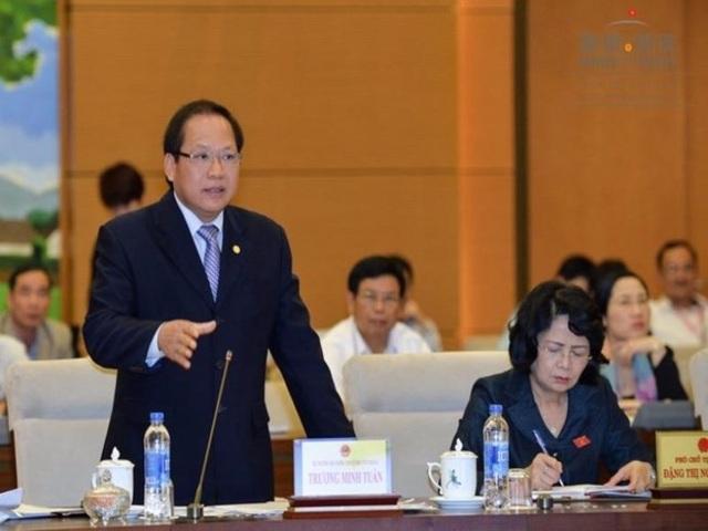 Bộ trưởng Trương Minh Tuấn trong lần trả lời chất vấn mới đây tại UB Thường vụ Quốc hội