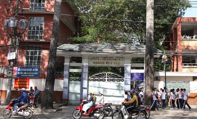 Trường THCS Hoàng Văn Thụ quận 10 nơi xảy ra vụ việc nữ sinh đánh nhau