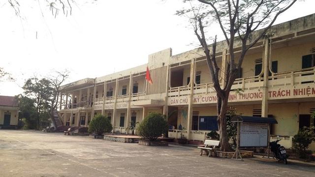 Trường THCS Vĩnh Hào nơi xảy ra sự việc