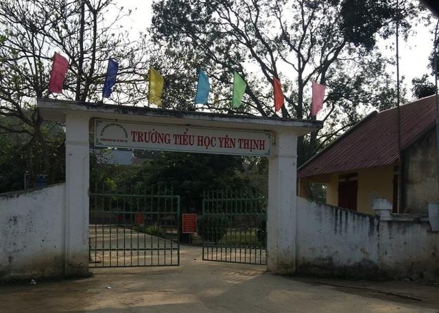 Trường Tiểu học Yên Thịnh (huyện Yên Định, Thanh Hóa) - nơi bị phạt 12 triệu đồng vì tổ chức câu lạc bộ trong giờ chính khóa.