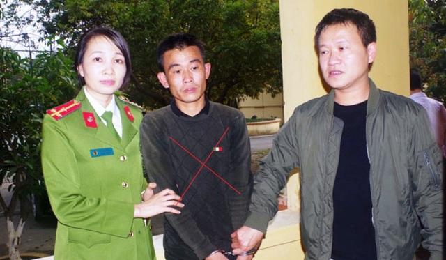 Đối tượng Nguyễn Văn Chung (dấu X) bị bắt giữ