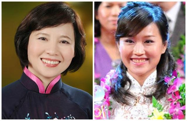 Thứ trưởng Hồ Thị Kim Thoa (trái) và con gái Nguyễn Thái Nga - Phó Tổng giám đốc Bóng đèn Điện Quang