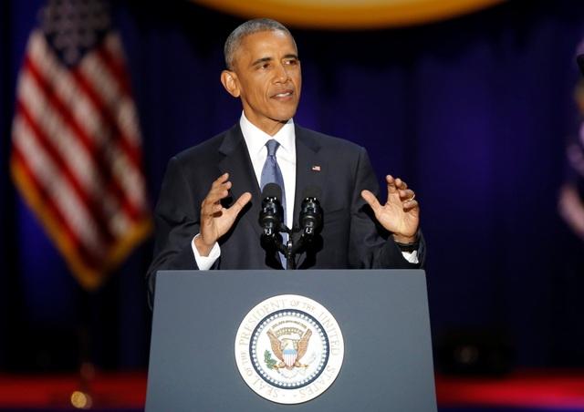 Tổng thống Obama phát biểu tại Chicago tối ngày 10/1 (Ảnh: Reuters)