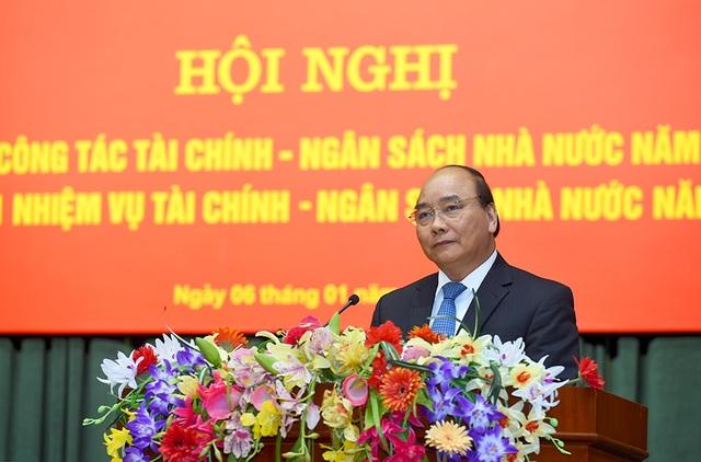 Thủ tướng phát biểu tại Hội nghị tổng kết công tác ngành tài chính (ảnh: VGP)