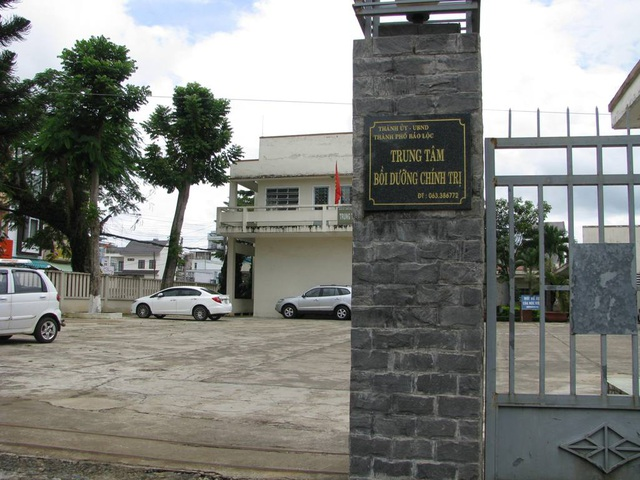 Trung tâm Bồi dưỡng chính trị thành phố Bảo Lộc (Lâm Đồng) - nơi xảy ra vụ việc.