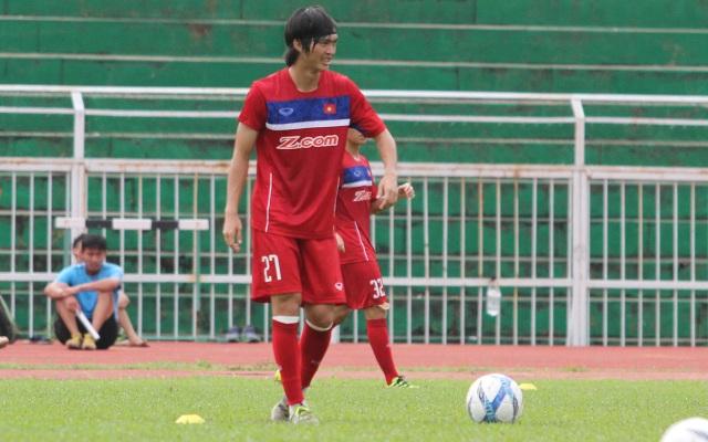 Đội tuyển Việt Nam rất chú trọng đến các bài tập dứt điểm (ảnh: Trọng Vũ)