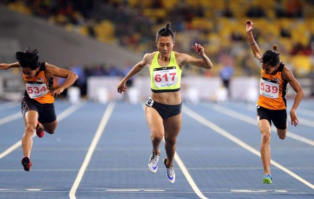 Tú Chinh giành HCV điền kinh nội dung 100m nữ