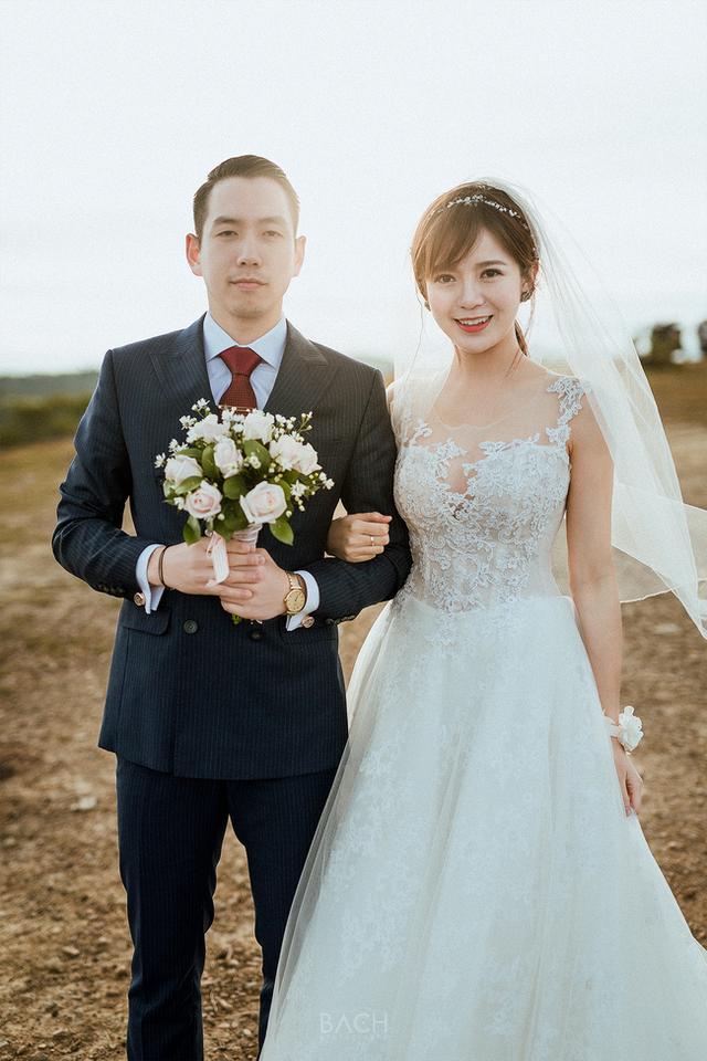 Cô dâu và chú rể rất đẹp đôi.