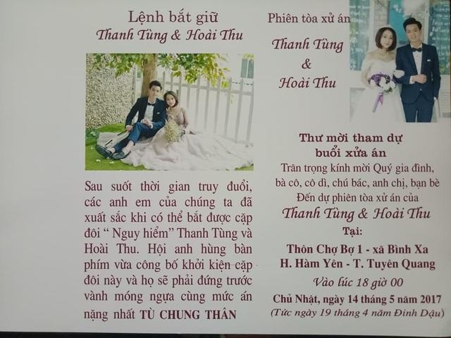 Thiệp mời cưới với nội dung mới lạ của cặp đôi Tuyên Quang