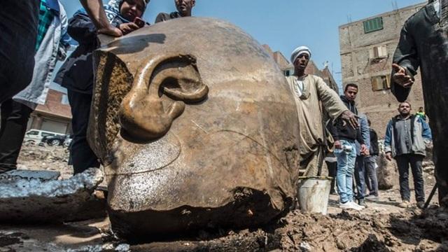 Hiện trường tìm được các bức tượng ở Cairo. (Nguồn: news.sky.com)