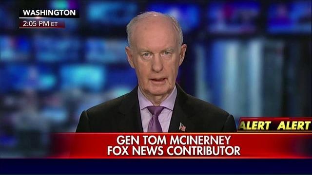 Tướng Mỹ về hưu Tom McInerney (Ảnh: Fox)
