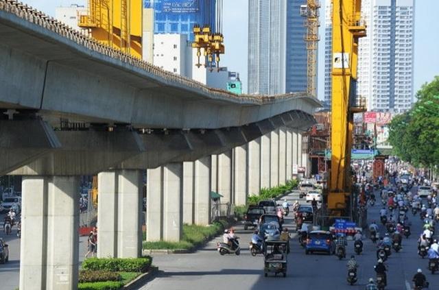 Đoạn Cát Linh - Hà Đông đã hoàn thành 90% khối lượng xây lắp.